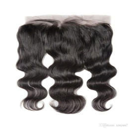 Kant Frontale Sluiting Braziliaanse Body Wave Remy Hair 13x4 Pre Plucked Hairline met Baby Haar HD Transparent Lace