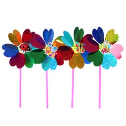 yard spinners Canada - 1pc colorful sequins windmill wind spinner home garden yard decoration kids toychildren baby play supplies