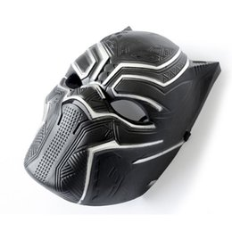 Adult Captain America Mask UK - Black Panther Masks Captain America Civil War Roles Cosplay Latex Mask Helmet Halloween Realistic Adult Party Props