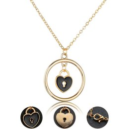 $enCountryForm.capitalKeyWord NZ - Lovely Girl Fashion Alloy Necklace Gold Plated Hearts Love Personality Pendant Piercing Elegant Jewelry For Women Wedding Gift
