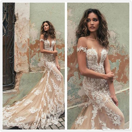 $enCountryForm.capitalKeyWord Australia - 2020 Cheap Sexy Mermaid Wedding Dresses Off Shoulder Illusion Lace Tulle Appliques Beads Sexy Open Back Court Train Middle East Bridal Gowns