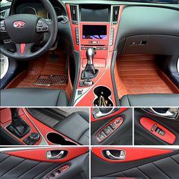 $enCountryForm.capitalKeyWord Australia - For Infiniti Q50 2014-2018 Interior Central Control Panel Door Handle 3D 5D Carbon Fiber Stickers Decals Car styling Accessorie