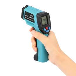 Venta al por mayor de GM550 -50 ~ 550 C Termómetro infrarrojo por láser digital Pantalla LCD Medidor de temperatura Termómetro sin contacto Termómetro Pirómetro