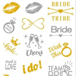 China Tattoo Stickers Ornaments Bachelorette Party Get Together Gifts Exquisite Before Marriage Single Party WaterProof Gilding Hot Silver 1 5rtC1 cheap tattoo cloth suppliers