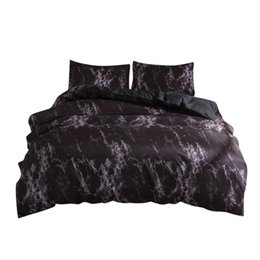 $enCountryForm.capitalKeyWord UK - Sheet +2Pillowcase Simple Marble Bedding Duvet Cover Set Quilt Cover Twin King Size With Pillow Case Black Bedding Set New F22