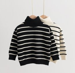 Kids Designer Sweaters Children Fashion Striped Printed Pullover Sweater 2020 New Arrial Child Boys Girls Casual Crew Turtleneck Sweater on Sale