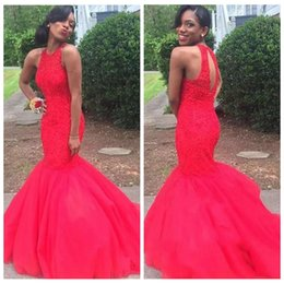 $enCountryForm.capitalKeyWord Australia - 2019 Jewel Slim Long Mermaid Prom Dresses Red African Black Girl Prom 2K17 Cheap Formal Dress Evening Wear Party Gowns Vestidos De Soiree