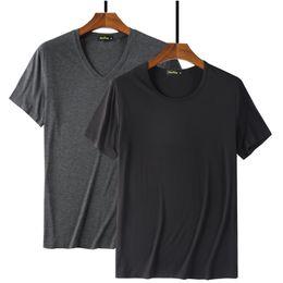 Blank Black Tee Australia - 2019 Cool T Shirt Men 95% Bamboo Fiber Hip Hop Basic Blank White T-shirt For Mens Fashion Tshirt Summer Top Tee Tops Plain Black Y19050701