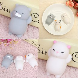 China Kawaii Mochi Animal Squishy Bread Lazy Sleep Cat pussy Slow Rising Bag Accessories &Ornament Ushihito Cartoon cheap rubber pussies suppliers