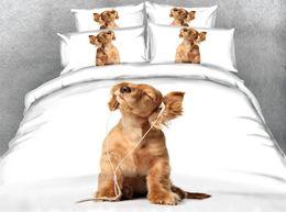 $enCountryForm.capitalKeyWord Australia - Puppy Bedspread Dog Prints Cute Duvet For Kids Girls 3 Pieces Boys Christmas Bedding Sets With 2 Pillow Shams Comforter Cover Zipper Closure