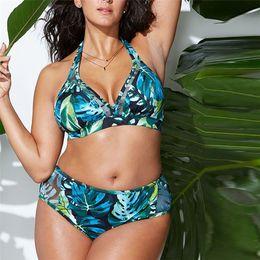 Bikinis Swimwear Bra Sizes Australia - 2019 Plus size Two Piece Bohemia print Swimsuit Biquini Women's Bikini Solid Set Filled Bra Swimwear Beachwear #0226 A#487
