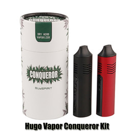 China Original Hugo Vapor Conqueror Kit Dry Herb Vaporizer Vape Pen 2200mAh Battery Temperature Control Herbal E Cigarette Kit DHL suppliers