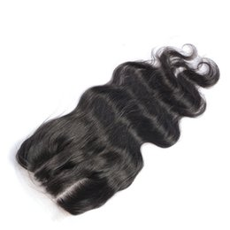 5x5 lace closure bleached knot Australia - Human Virgin Hair Lace Closure 5X5 Indian Virgin Hair Body Wave Pre Plucked Lace Frontal Closure Bleached Knots In Stock Wholesales