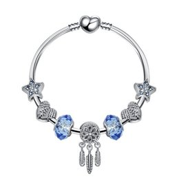 pandora fish Australia - Major Fashion Fashion4U99 2019 s925 silver crystal Diamonds Blue woman Bracelet Fits European Pandora Jewelry Charm Bracelets Free Shipping
