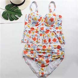 a13999e221b088 Plus Size Swimwear for Women High Waist Swimsuit 2019 Sexy Brazilian Micro Bikinis  Swim Wear Lady Floral Bathing Suit Push up Beach Biquinis