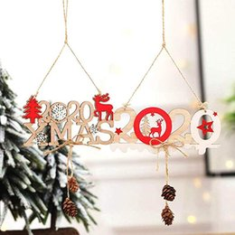 $enCountryForm.capitalKeyWord Australia - Free DHL 3D 2020 Xmas Wooden New Year Christmas Tree Hanging Pendant Wall Board Indoor Outdoor Window Ornament Home Decoration Gift M557F
