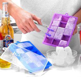 $enCountryForm.capitalKeyWord NZ - LanLan 15-Hole Food Grade Silicone Ice Cube Mold Whisky Ice Tray with Lid Square-shape DIY Ice Mold-20