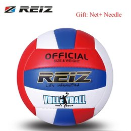 $enCountryForm.capitalKeyWord Australia - REIZ Professional Soft PU Volleyball Ball Competition Training Ball Men Women Official Size Weight Soft Touch Volleyball #15531