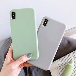 $enCountryForm.capitalKeyWord Australia - Moskado For iPhone 7 Case Simple Solid Candy Color For iPhone X XR XS Max 6 6s 7 8 Plus Silicone Phone Cases Soft TPU