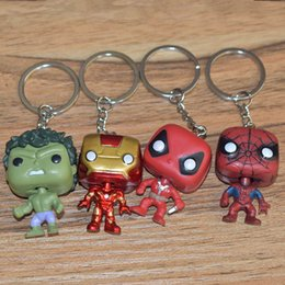 Spider Keychain Australia - 2019 European and American new men and women Green Giant Spider-Man Iron Man American Captain 4 Keychain