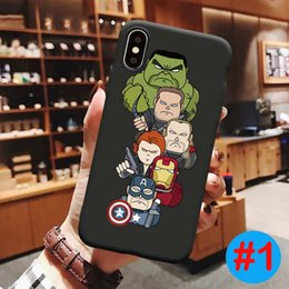Marvel apple online shopping - For iPhone X XS MAX XR Marvel Avengers TPU Case Shock Absorption Soft Back Cover For iPhone plus SE
