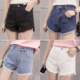 korean hot pants fashion style 2019 - hot selling Basic Korean-Style Shorts fashion Tassled Denim Shorts Female Tide summer girl street pants discount korean