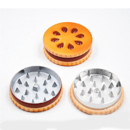 $enCountryForm.capitalKeyWord Australia - DHL Free shipping Dry herb Grinders Cookie Biscuit Hamburger Metal Zinc Alloy 2 Layer Tobacco Herb Grinder Metal Shark Teeth Burger