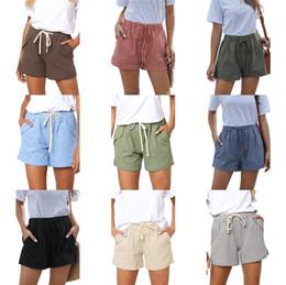 Wholesale side stripe shorts resale online – Inflation Womens Sportswear Shorts Side Stripe Contrast Color High Street Vintage Shorts Women Loose Cross Shorts