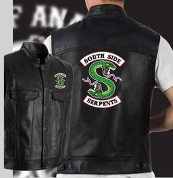 c458a1fcbdb Gilet en cuir noir veste de moto hip hop veste en cuir noir côté hommes
