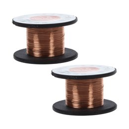 copper reel NZ - 2Pcs 15m 0.1MM Copper Soldering Solder Enamelled Reel Wire Roll Connecting