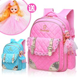80d1aa069a52 Waterproof Children School Bags for Girls Cartoon princess school Backpack  Girl kids Satchel Schoolbags Kids Book Bags Mochilas
