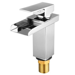 $enCountryForm.capitalKeyWord Australia - Modern Brass Chrome Waterfall Mixer Tap Kitchen Bathroom Basin Sink Faucet Holes For Household Hardware Tool