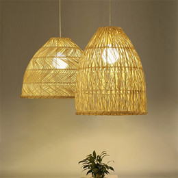 $enCountryForm.capitalKeyWord Australia - Rattan Woven Pendant Lamp Chinese Nordic Rural Art Deco Lighting Restaurant Kitchen Lights Hanging Cafe Pendant Light Fixtures