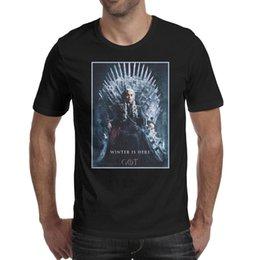 Queen Games Australia - Men's T-Shirt-Game of Thrones throne queen Casual Active Short-Sleeve Crewneck Cotton Tee Tops