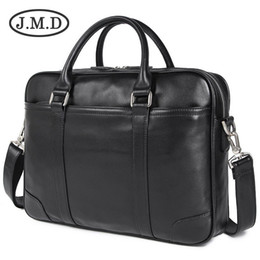Genuine Leather Handles Australia - Genuine Leather Laptop Bag Top Handle Bag Men's Handbag For Buisness 7349