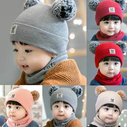 d25e1b4bc936 MUQGEW MUQGEW Baby Girls Boys Clothes Newborn Kid Baby Boy Girl Pom Hat  Winter Warm Knit Crochet Beanie Cap Scarf Set