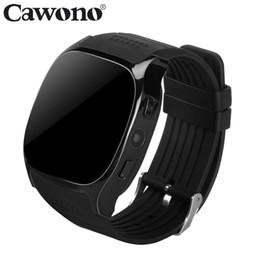 Bluetooth Smart Watch Sim Australia - Cawono T8 Bluetooth Smart Watch Support SIM TF Card With Camera Sports Wristwatch Music Player for Apple Android VS M26 DZ09 A1