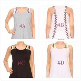 09edb2fe82c SleeveleSS beach ShirtS online shopping - Women Baseball Tanks Top Summer  Softball Printed Sleeveless Vest Sports