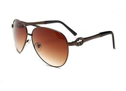 Womens Polarized Sun Glasses Australia - 1Pair Classic Pilot Sunglasses For Mens Womens Metal Sun Glasses Eyewear Silver Mirror 58mm 62mm Glass Lenses With Brown Case