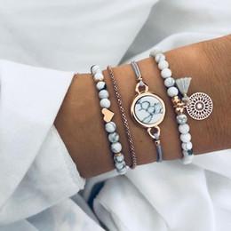 $enCountryForm.capitalKeyWord Australia - FAMSHIN Bohemian Handmade Weave Heart Long Tassel Bracelet Sets Women 2019 New Grey Rope Chain Bracelets Jewelry Christmas Gift
