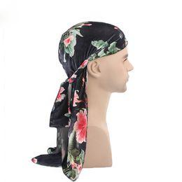 summer skull caps for men 2019 - Fashion Velevet Durag Unisex Headwear Hip Hop Printed Skull Caps for Men High Street Pirate Hat cheap summer skull caps