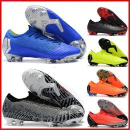 8958c7fbf09 Cheap Mens Soccer Cleats Mercurial Vapors VII XII Elite FG Cr7 Football  boots Superfly VI Neymar JR kids youth boys Soccer shoes outdoor