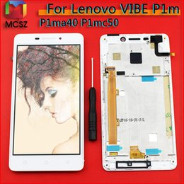 Discount touch screen for lenovo vibe - For Lenovo Vibe P1m P1ma40 LCD Display Touch Screen Digitizer Assembly Frame Replacement for P1mc50 TD-LTE