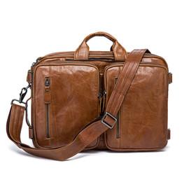 $enCountryForm.capitalKeyWord NZ - Cowhide Leather Briefcase Mens Genuine Leather Handbags Crossbody Bags Men's High Quality Luxury Business Messenger Bags Laptop