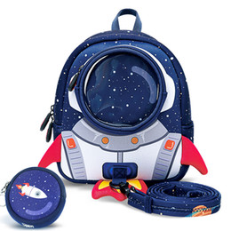 lost backpacks Australia - 3D Rockets Anti-lost School Bags For Girls Cartoon high-grade Toy Boys Backpack Kindergarten Bags Children's Gifts For Age 1-6
