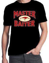 Custom Fishing Lures Australia - Master Baiter Funny Fishing Lure Tackle Wholesale t-Shirt T Shirt Men Man's Camisa De Basquete Custom Short Sleeve Valentine's Big Size Men'