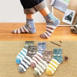 colorful socks mens fashion Canada - Stockings Mens Designer Colorful Socks Fashion Spring And Autumn Mid Calf Socks Homme Solid Warm Casual