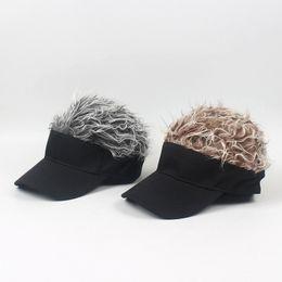 Wig Grey Australia - Trend Wig Cap Dome Beach Women's and Men's Hip Hop Hat Summer Outdoor Fashion Designer Wig Cap