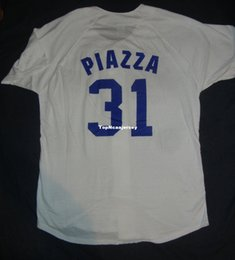 bb7c031ad6a Cheap Retro 31  MIKE PIAZZA LOS ANGELES White Jersey Shirt Mens Stitched  Baseball jerseys