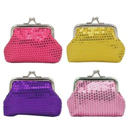 Discount assorted clasps - Coin Pouch Purse 4 Packs Cute Canvas Gift Jewelry Trinkets Pouch Clasp Closure Wallet Assorted Colors (4 Pcs Sequins Coi